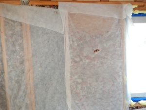 discovered some of the wool insulation settled!